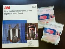 New listing Genuine 3M Full Face Respirator Large 6900 - ready for droplet protection