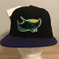 Tampa Bay Rays Vintage Hat Fitted 7 Black New Era MLB Baseball Retro 90s USA