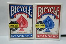 2 Sealed Decks of BICYCLE Standard Face Poker Playing Cards Red & Blue BRAND NEW