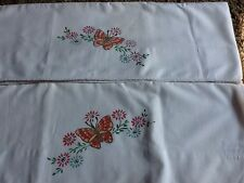 vintage hand painted pillow cases