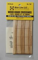 Wood Grade Crossings Curved 23-25 HO SCALE TRAIN LAYOUT DIORAMA BLAIR LINE 128