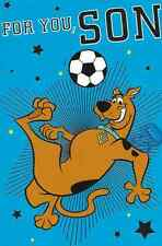 FOR YOU SON ,SCOOBY DOO  BIRTHDAY CARD,FOOTBALL THEME 6 X 9 INCH (W1)