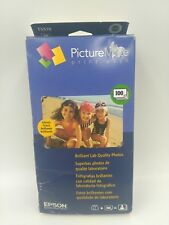 "Epson PictureMate Print Pack Cartridge & 100 Sheets 4""x6"" Glossy Paper 07.2011"
