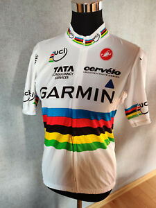Brand New Original CASTELLI Cycling GARMIN Jersey L Short Sleeves World Champion