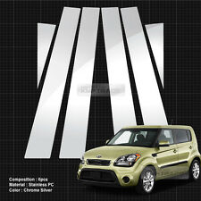 Chrome Pillar Post Flexible Stainless PC Molding Cover 6P For KIA 2008-2013 Soul