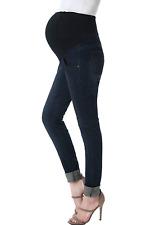Momo Maternity Women's Skinny Leg Denim Jeans - Dark Denim (S 29) 29 X 33