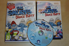 NINTENDO Wii VIDEOGAME THE SMURFS DANCE PARTY +BOX INSTRUCTIONS COMPLETE PAL GWO