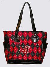 NEW r25 Washington State Cougars NCAA TOTE Argyle Hand Bag Purse college golf