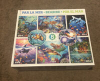 Seaside Ceaco puzzles Set Of 7 bags still sealed! One Bag Missing 300-1000 Pcs