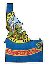 Idaho State (Q13) Shape Flag Vinyl Decal Sticker Car/Truck Laptop/Netbook Window