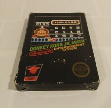 Donkey Kong JR Math NES Nintendo Extremely RARE!!! CIB 5 screw