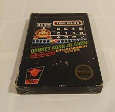Donkey Kong JR Math NES Nintendo Extremely RARE!!! CIB 5 screw
