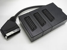 Adattatore SCART 3 IN 1 - 1 MASCHIO SCART / 3 FEMMINE SCART - 9 POLI SCHERMATO