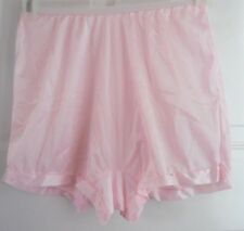 3 NYLON PANTIES BRIEFS BLOOMERS BLUE, IVORY, PINK WOMEN BOXERS SIZE 7 or LARGE