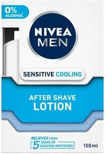 NIVEA MEN Shaving, Sensitive Cooling After Shave Lotion, 100ml pack of 1