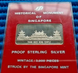 Historical Monument of Singapore Thian Hock Keng Temple in Proof Sterling Silver