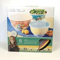The Pioneer Woman Melamine Serving Storage Bowl 3pc Set With Lids Melody NIB