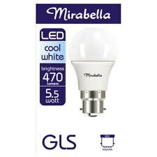 Mirabella LED Globe GLS Bayonet Cap 5.5 watt Cool White 1 each