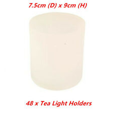 48 x Frosted Tea Light Holder Table Candle Cup Tealight Wedding Glass Party