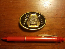 Star Wars Darth Vader Vintage Brass Black Metal Lee Belt Buckle Great Condition