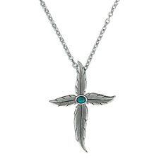 Montana Silversmiths Necklace Womens Angel Feathers Silver Nc1521ma