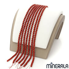 NATURAL BAMBOO CORAL SARDINIA GEMSTONE ROUND 6mm FACETED BEADS