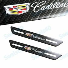 2 Carbon Car Rear Door Welcome Plate Sill Scuff Cover Decal Sticker For Cadillac