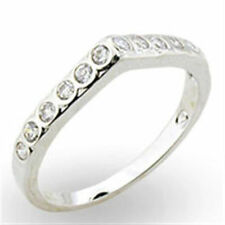 Cubic Zirconia Eternity White Gold Filled Fashion Rings