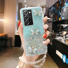 Cute Bling Glitter Butterfly Case Cover For Samsung Note 20 S21 S20 A32 5G A12