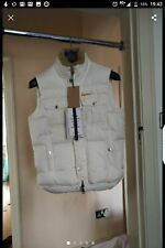 DSQUARED 2 DS2 white duck down gilet, real lamb fur, size 46 IT, new with tags