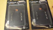 LOT of 2 NEW Carzor Mini Portable Travel Wallet Credit Card Shaver Razor Mirror