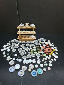 dolls house accessories job lot of 160 mixed pottery items 1.12th Y2