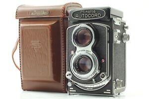 [Exc+5 w/case ] MINOLTA AUTOCORD TLR Camera Rokkor 75mm f/3.5 Lens From JAPAN