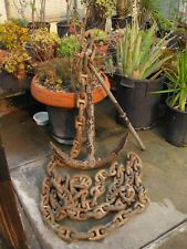 Vintage Ships Anchor. Old.Heavy. & Stud Link Chain