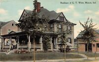 Postcard Residence of G.T. White in Muncie, Indiana~124958