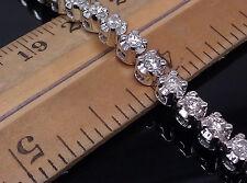10K Ladies White Gold Elegant Tennis Bracelet With 3.00CT Round Diamond