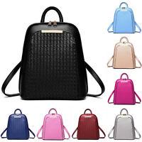 New Women Backpack SchoolBag PU Leather Leisure Shoulder Bag Rucksack Handbag