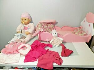 Zapf Baby Annabell cot, doll and Accessories.