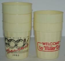 Vintage Miller Beer Rock Series Cups 1983 Plastic Never Used Lot of 5