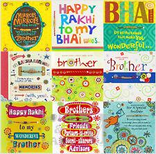 Rakhi / Raksha Bandhan Greetings Cards - With Thread - Various Designs Available