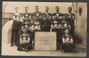 Postcard HMS Revenge winners Marines Cutters Race 1916 WW1 naval shipping RP
