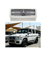 White G63 Style Front Grill Fit For Mercedes-Benz W463 G-class G500 G55 G65
