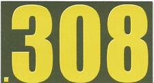 """Vinyl Ammo Can Magnet label """".308 Bold"""""""