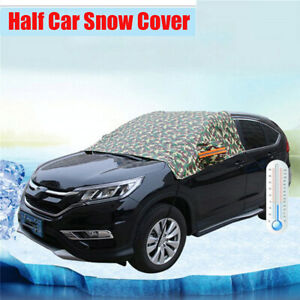 Car Windshield Camouflage Snow Cover Sunshade Protector with Reflective Strip