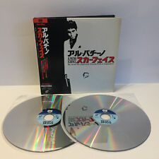 Scarface | Al Pacino | Japan 2LD Laserdisc + OBI | English | Near Mint NM