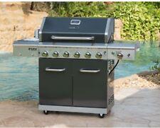 Propane Gas BBQ Barbecue Grill Side Sear 6-Burner Rotisserie Kit Nexgrill Deluxe