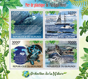 Great Pacific Garbage Patch Nature protection m/s Burundi Sc.1115 BUR12415a