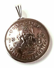 UK Scotland Shilling Coin Jewelry Pendant Vintage Necklace Scottish Crest Lion