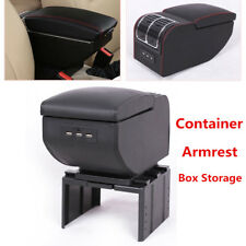 6USB Rechargeable Car Charger Central Container Armrest Box Storage Case Durable