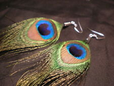 Retro Style Luxury Peacock Feather Earrings Easy Matching Eardrop Dangle Earring